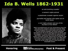 """Knowing your history is fun, rewarding, and informative. The more you know, the more you grow. Miss R*EVOLutionaries -her book is """"southern horrors"""", definitely something people should be aware of Women In History, Black History, Modern History, Ancient History, Great Women, Amazing Women, American History, British History, Native American"""