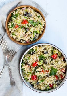 The Kale Quinoa Salad is a perfect light lunch or healthy side to your dinner.