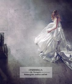 "The Look: Cinderella - designer Disney dresses photographed by Jason Ell with set design by Christopher Woods for the Harrods magazine ""Once Upon a Dream"" editorial. Dress designed by Versace."