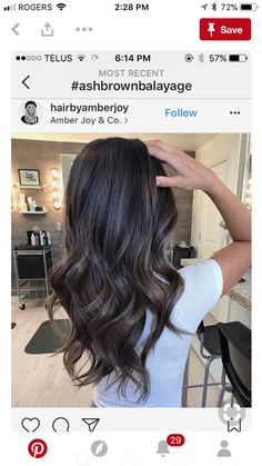 Long Wavy Ash-Brown Balayage - 20 Light Brown Hair Color Ideas for Your New Look - The Trending Hairstyle Hair Color Balayage, Blonde Balayage, Ombre Hair, Ash Blonde, Black Balayage, Brown Hair Colors, Brunette Hair, Dyed Hair, Hair Inspiration