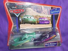 DISNEY Pixar Cars Movie Moments diecast Supercharged FLO & RAMONE Rare! NIP!