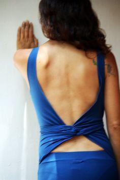 Long maxi dress wrapping back open back maxi dress by Picarona, $52.00