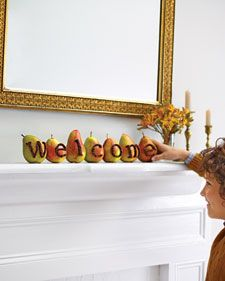 Here's a fresh idea for the season's abundant Forelles and Anjous: Use them to make a friendly, fragrant greeting.