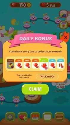 Claim you daily bonus now! Play today! #coinpusher #coindozer #freeonlinegames #casualgames #arcade #carnival #socialgames
