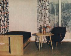 Janina Jędrachowicz, Kondrad Racinowski Fotel tapicerowany typ 345, 1956, Poznańskie FM