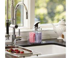 forma kitchen soap dispenser pump, sponge, scrubby and dish brush