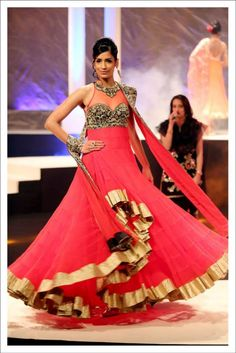 Perfect Floor - Length anarkali sit , befitting your reception night. Suneet Verma Designs