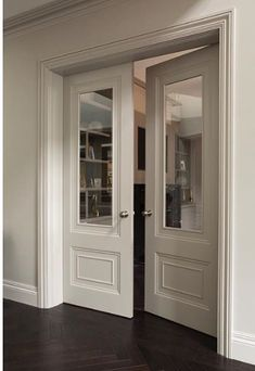 Check out this vital graphics in order to look at the here and now information and facts on french doors bedroom Internal Double Doors, Double Glass Doors, Double Doors Interior, Interior Windows, Door Design, House Design, Casa Milano, French Doors Bedroom, Indoor Doors