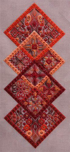 Pangea - AutumnLeaves....simple.  Color choice and threads are lovely....: