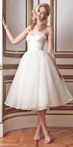 18 Gorgeous Tea Length Wedding Dresses