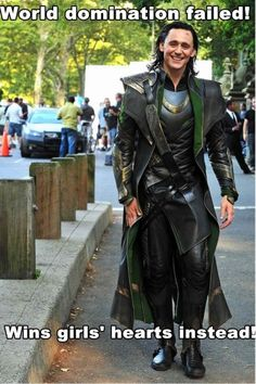 Oh Loki...    Smile a bit more like that in the movies ah the weird head thing and then boom, you're actually kind of attractive!