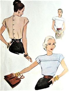 Vintage Inspiration LOVELY Blouse Pattern McCALL 6749 Button Back Blouse Perfect Suit Blouse Bust 34 Vintage Sewing Pattern Blouse Blouse patterns Bust button Inspiration Lovely McCALL pattern Perfect sewing Suit vintage Vintage Sewing Machines, Vintage Sewing Patterns, Mccalls Sewing Patterns, Vogue Vintage, Vintage Fashion, Blouse Patterns, Clothing Patterns, Blouse Designs, Blouse Sewing Pattern