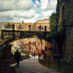 A picturesque scene of daily urban trekking in Appian Way, My Town, Trekking, Places Ive Been, To Go, Louvre, Scene, Urban, Building