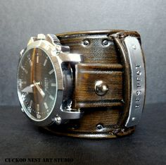 This is amazing.   Etsy listing at https://www.etsy.com/listing/223830202/mens-leather-watch-personalized-wrist