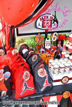 Jordan Basketball Party Decor
