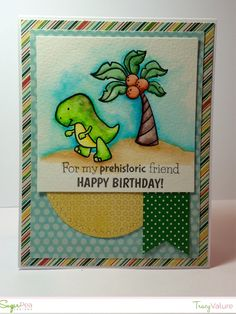 Tracy's Stamping Corner: Phehistoric Friends