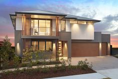 The Chifley With Vogue is on display at Homeworld Gledswood Hills. Rawson Homes, Open Plan Living, Modern House Design, Floor Plans, Vogue, Layout, Exterior, Display, Decorating