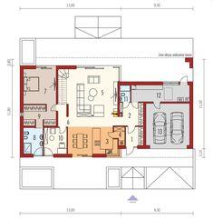 Rzut AC EX 18 G2 ENERGO PLUS CE Prefab Homes, Home Projects, Bungalow, Gazebo, Beach House, 18th, Floor Plans, House Design, How To Plan