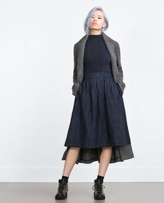 "Image 1 of ""ESSENTIALS"" FULL SKIRT from Zara"
