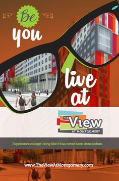 """""""Be You, Live at The View!"""" #studenthousing #design #marketing"""