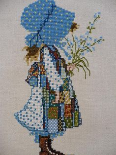 Borduurpatroon Allerlei & Vanalles Kruissteek *Cross Stitch Pattern ~Holly Hobbie/Sarah Kay? - geen patroon~