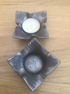 Forged metal tealight holders