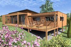 architecture maison avec 1 etage decalé - Recherche Google