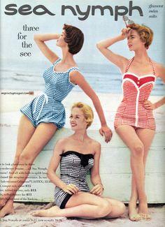 "...wonderful ""bubble"" style 1950s swimsuits"