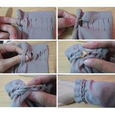 Trança no tecido - punho