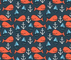 Fitted Crib Sheet Nautical Whales Navy Crib Sheet by ModFox