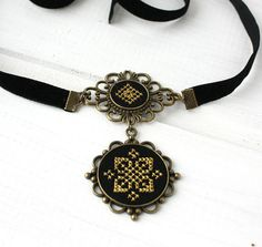 Black velvet choker necklace with pendant Thin velvet ribbon black choker choker Black yellow ethnic necklace Ukrainian embroidery gift Yellow Earrings, Beaded Earrings, Black Velvet Choker Necklace, Flower Arrangement Designs, Velvet Ribbon, Hand Embroidery Designs, Gothic Jewelry, Chokers, Mustard Yellow