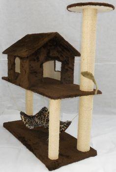 Arranhador para gatos Casinha com rede