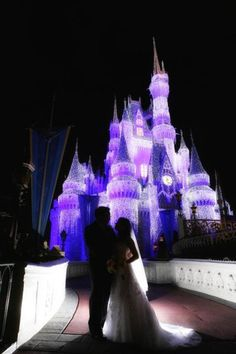 If im to marry my prince then why not do it by a castle? And a place where dreams come true! *Disney World