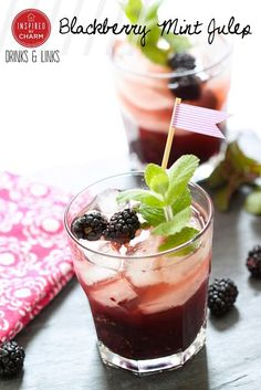 Drinks and Links: Blackberry Mint Julep