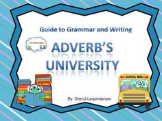 Adverbs Features: adverb of manner adverb of time adverb of place adverb of degree adverb of cause Sample and posters for each . Task cards, worksheets and games for the whole class to enjoy. Teaching Materials, Teaching Ideas, Language Arts, English Language, Thing 1, Teaching Grammar, Adverbs, Literacy Activities, Upper Elementary