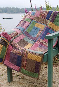 Ravelry: -Kerstin-'s Log Cabin Blanket