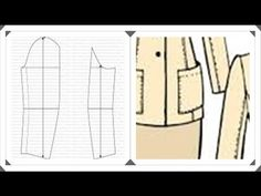 Trazo del patron de manga sastre - YouTube Couture, Pattern Design, Fashion Dresses, Stitch, Sewing, Clothes, Homes, Garden, Women Blazer