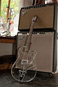 Geoff Benge Guitars Custom Lucite Gretsch.