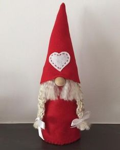 Valentine gnomes! For people of Scandinavian descent the Christmas gnome is a decorating staple and the perfect Christmas gift. Also known as the tomte or nisse