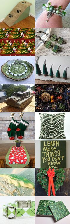 We've created this #Green #Christmas #Gifts #Treasury! Check it out on #Etsy #completebowties #bowties #EtsyRPM --Pinned with TreasuryPin.com