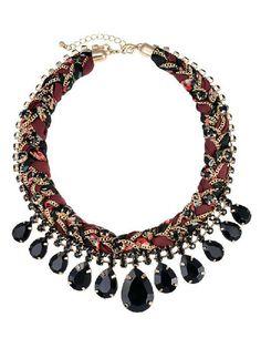 Love! Love! Love! Black Bohemian Tear Drop Collar Necklace #Black #Bohemian #Style #Teardrop #Choker #Fashion #Jewelry #Fall #Winter #Necklace #Accessories