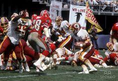 John Riggins Greatest Runs | Washington Redskins running back John Riggins (44) in action against ...