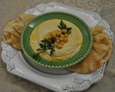 Homus, uma deliciosa pasta de grão de bico.