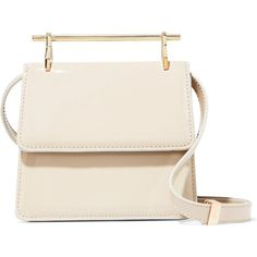 M2MalletierCollectionneuse Mini Patent-leather Shoulder Bag (9,465 CNY) ❤  liked on Polyvore featuring eeb575cb0e