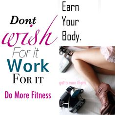 Don't wish for it, work for it! ❤❤❤❤❤ contact me today to get started! Trish@domorefitness.tk
