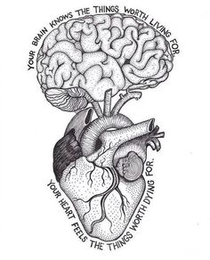 Boost Your Medical Knowledge This is deep. – Tag your fri Cool Art Drawings, Pencil Art Drawings, Art Drawings Sketches, Tattoo Drawings, Brain Tattoo, Brain Art, Brain Drawing, Deep Drawing, Drawing Faces