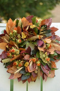 Fall Harvest Wreath 16 Fall Door Wreath by TheBlaithinBlairShop
