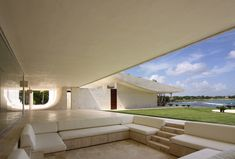 This house by A-cero took my breath away. Not only are the walls and roof sloped, resembling an enormous skate park, but the entire structure exudes a sense of relaxation. The pool area is even created to resemble white sand beach — who needs a vacation when you can live here all year round?    Read more at Design Milk: http://design-milk.com/house-in-the-dominican-republic-by-a-cero/#ixzz1s8MoJtgt