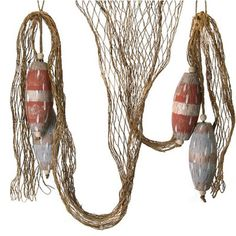 """Faux Wood Buoy and Net Swag Size: 6"""" Arriving soon!"""