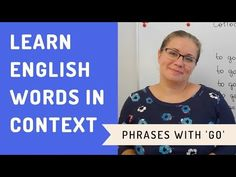 Learn the most used collocations and phrasal verbs with GO and improve your fluency in English. Watch our series of vocabulary lessons for English learners. Vocabulary In Context, English Vocabulary, Learning English Online, Learn English, English Language, Bbc, Improve Yourself, Words, Youtube